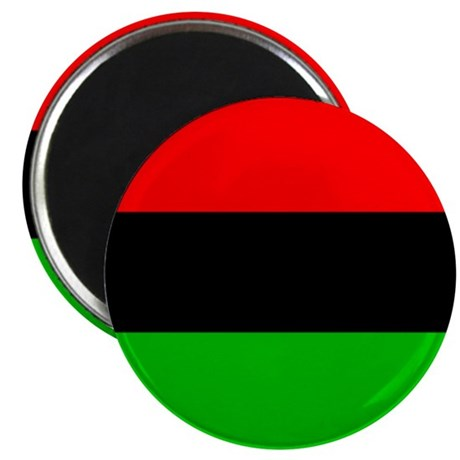 """African-American Flag Total 2.25"""" Magnet (10 pack)"""