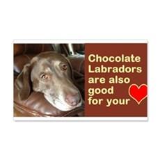 Chocolate Lab Face Wall Decal