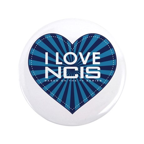 """I Love NCIS 3.5"""" Button (100 pack)"""