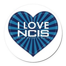I Love NCIS Round Car Magnet