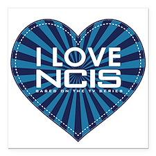 "I Love NCIS Square Car Magnet 3"" x 3"""