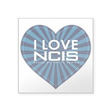 "I Love NCIS Square Sticker 3"" x 3"""