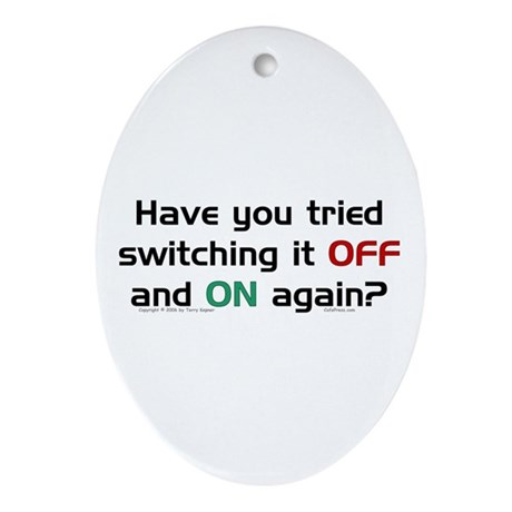 Switch On/Off. Oval Ornament