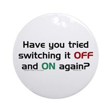 Switch On/Off. Ornament (Round)