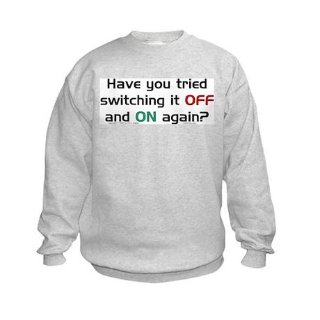 Switch On/Off. Kids Sweatshirt