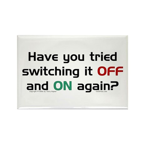 Switch On/Off. Rectangle Magnet