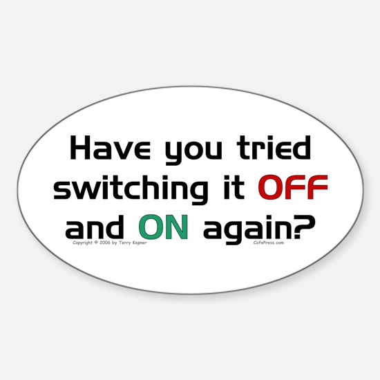 Switch On/Off. Oval Decal