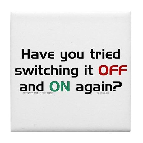Switch On/Off. Tile Coaster