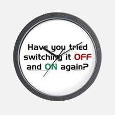 Switch On/Off. Wall Clock