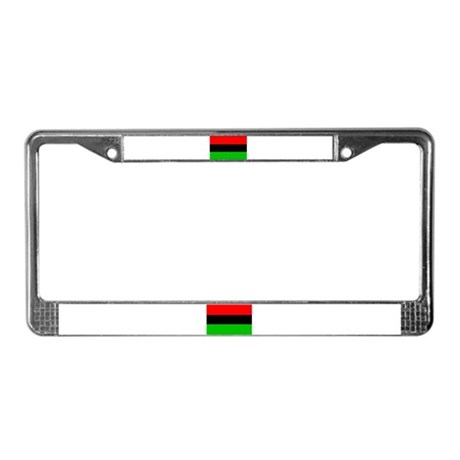 African-American Flag License Plate Frame