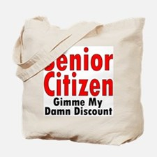Senior Citizen Discount Tote Bag