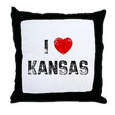 I * Kansas Throw Pillow