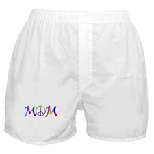 Peace Sign Mom Boxer Shorts
