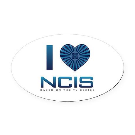 I Heart NCIS Oval Car Magnet