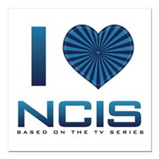 "I Heart NCIS Square Car Magnet 3"" x 3"""