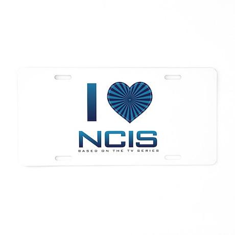 I Heart NCIS Aluminum License Plate