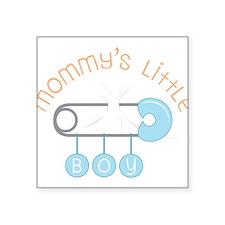 "Mommy's Little Boy Square Sticker 3"" x 3"""