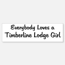 Timberline Lodge Girl Bumper Bumper Bumper Sticker