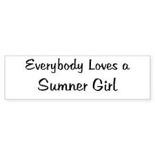 Sumner Girl Bumper Bumper Sticker