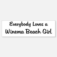 Winema Beach Girl Bumper Bumper Bumper Sticker