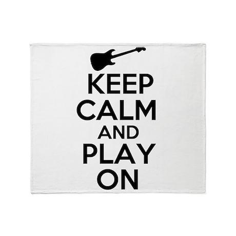 Keep Calm and Play On Throw Blanket