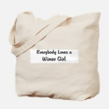 Wimer Girl Tote Bag