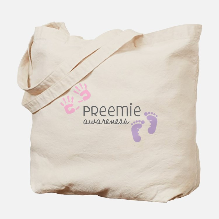 Preemie Awareness Tote Bag