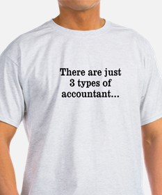 3 Types of Accountan T-Shirt