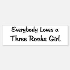 Three Rocks Girl Bumper Bumper Bumper Sticker