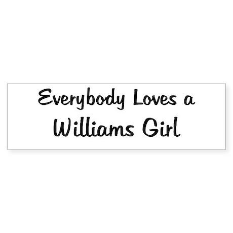Williams Girl Bumper Sticker