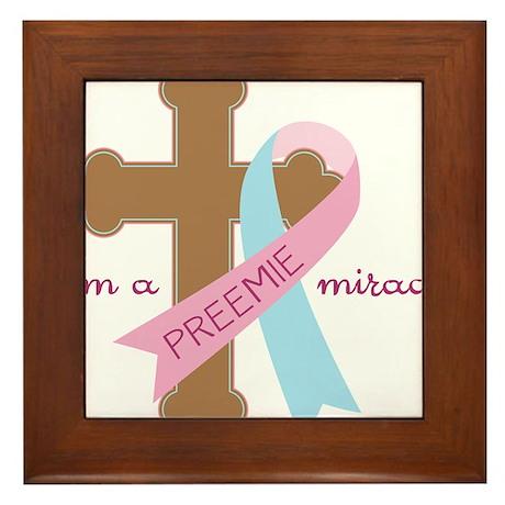 I'm a Miracle Framed Tile