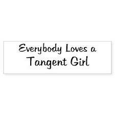 Tangent Girl Bumper Bumper Sticker