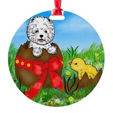 Easter Westie Ornament