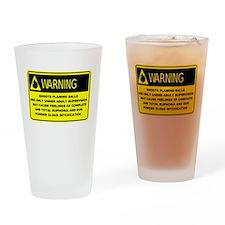 Warning! Shoots Flaming Balls Drinking Glass