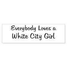 White City Girl Bumper Bumper Sticker
