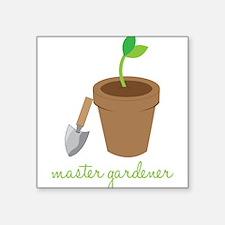 "Master Gardener Square Sticker 3"" x 3"""