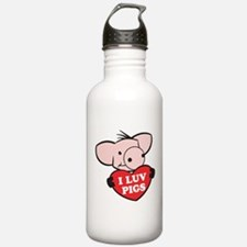 I Love Pigs Water Bottle