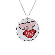I Love Pigs Necklace