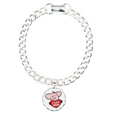 I Love Pigs Bracelet