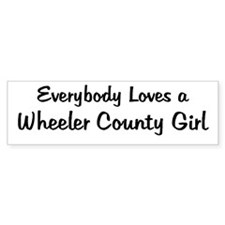 Wheeler County Girl Bumper Bumper Sticker
