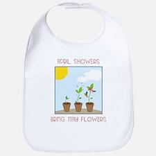 May Flowers Bib