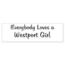 Westport Girl Bumper Bumper Sticker