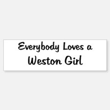 Weston Girl Bumper Bumper Bumper Sticker