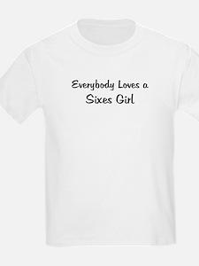 Sixes Girl Kids T-Shirt