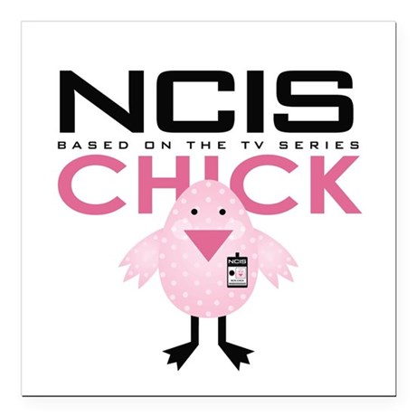 "NCIS Chick Square Car Magnet 3"" x 3"""