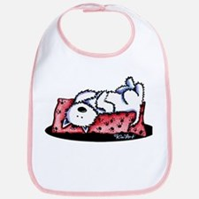 Lazy Day Westie Bib