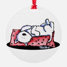 Lazy Day Westie Ornament