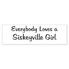 Siskeyville Girl Bumper Bumper Sticker