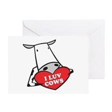 I Love Cows Greeting Card