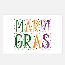 MARDI GRAS Postcards (Package of 8)